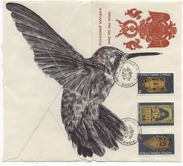 Vintage Avian Envelope Art