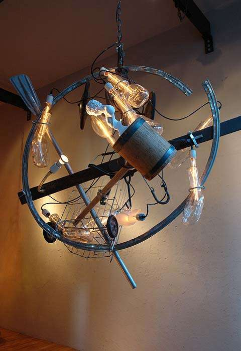 recycled lighting. Junk Chandeliers Recycled Lighting /