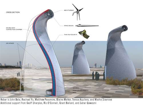 Artistic Turbines Artocos Singing Wind Towers