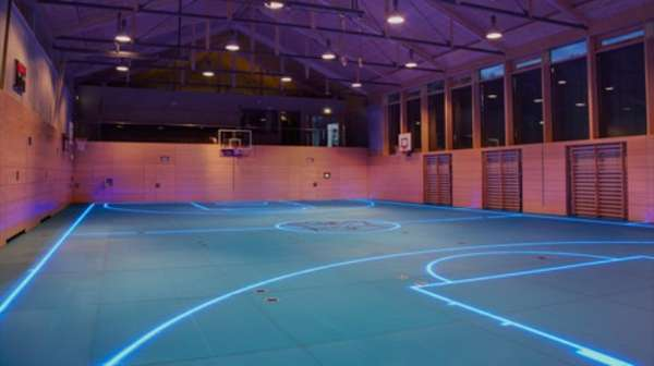 Futuristic Gym Courts