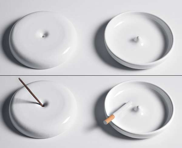 Dual-Purpose Ashtrays