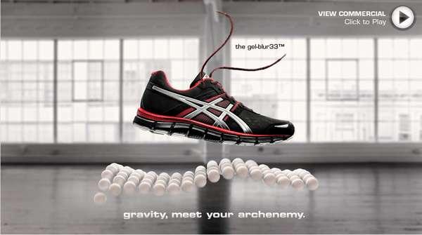 Floating Footwear Ads