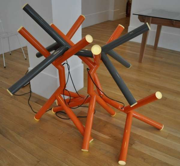 Piled Branch-Like Lamps
