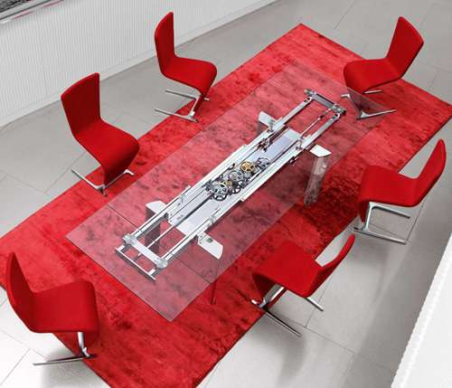 Modern Mechanized Furniture : Astrolab Dining Table