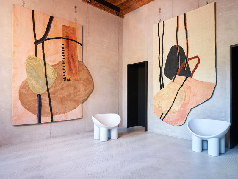 Abstract Asymmetrical Rugs