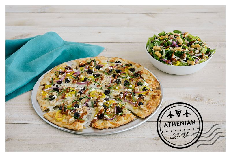 Internationally Inspired Greek Pizzas