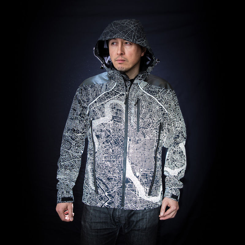 Reflective Metropolitan Map Jackets