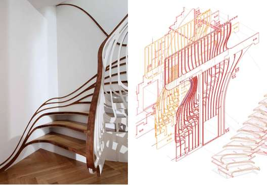Stunning Sinuous Stairs