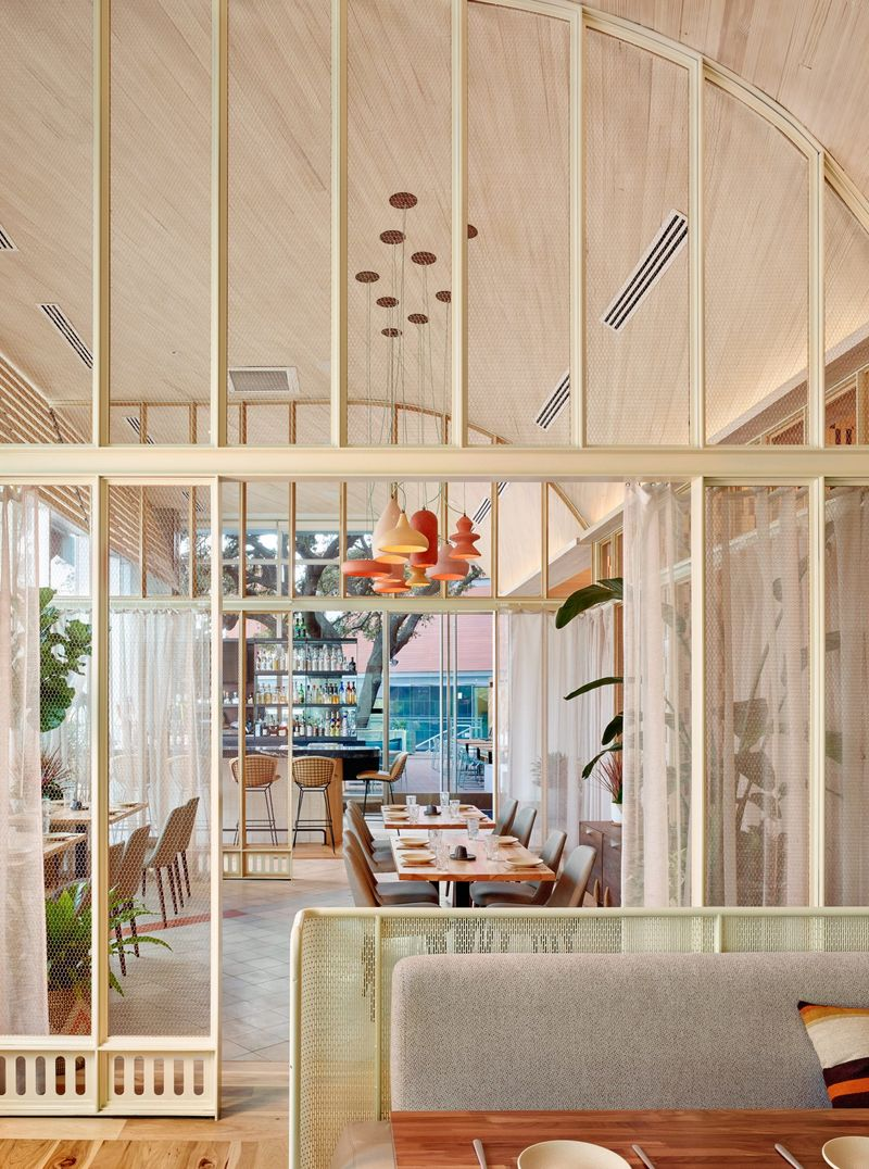 Curvy Wooden Restaurants