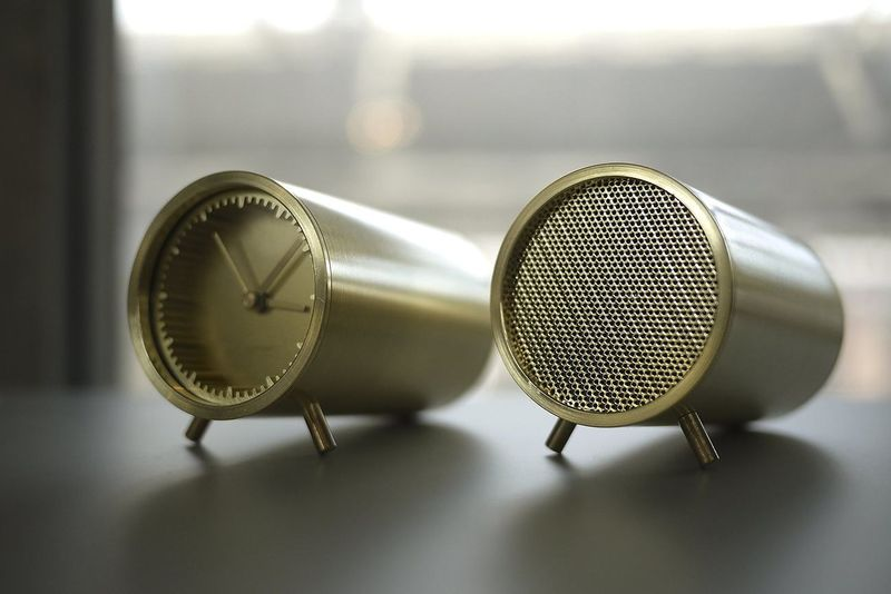 Tubular Timepiece Speakers
