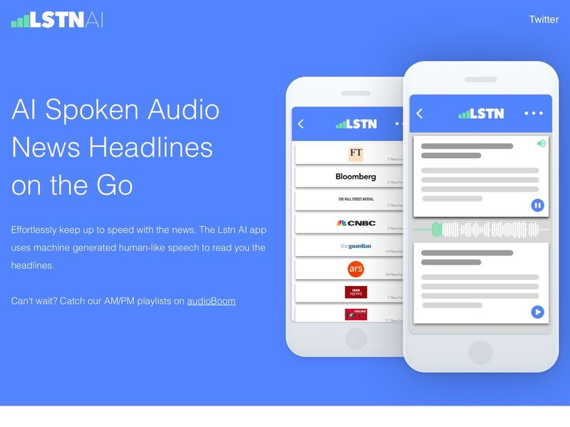 AI Audio News Apps