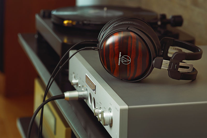 Striped Ebony Wood Headphones