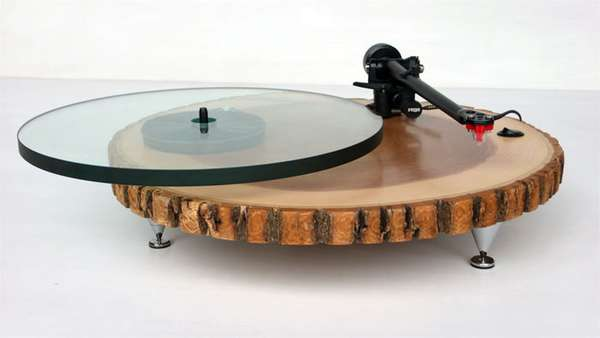 Tree Trunk Turntables Audiowood