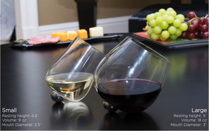 Effortless Rotating Wine Glasses