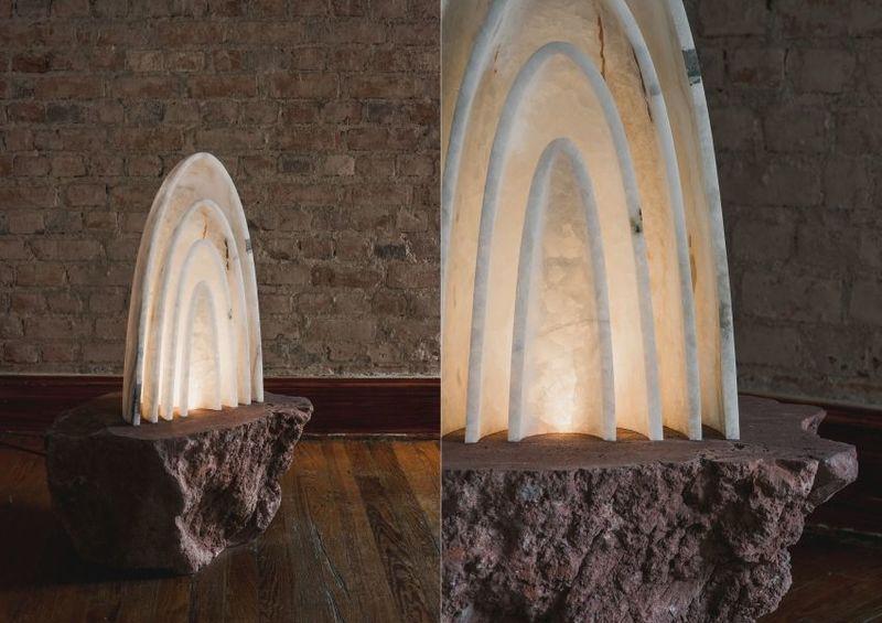 Naturalistic White Onyx Illuminators