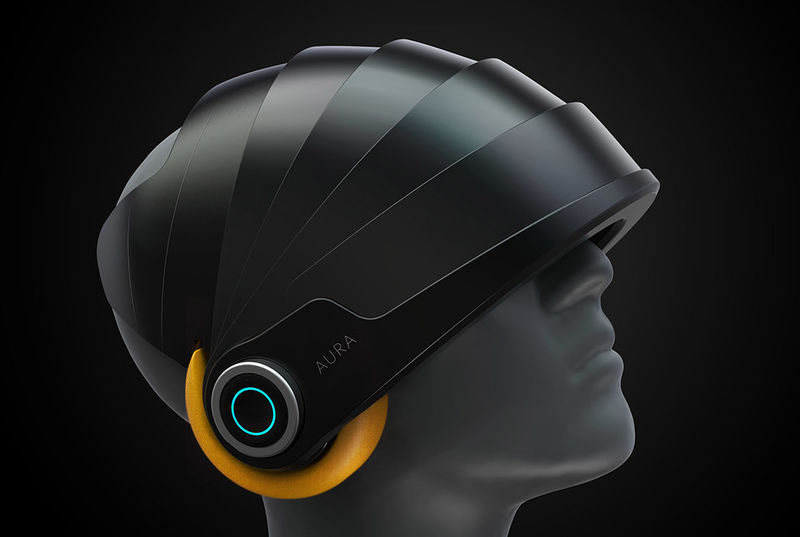 Relaxing Jet Lag-Curing Helmets