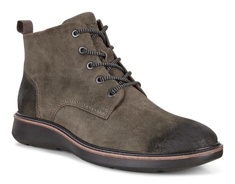 Versatile Pebbled Nubuck Boots