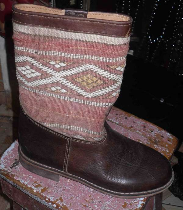 Tribalesque Leather Boots
