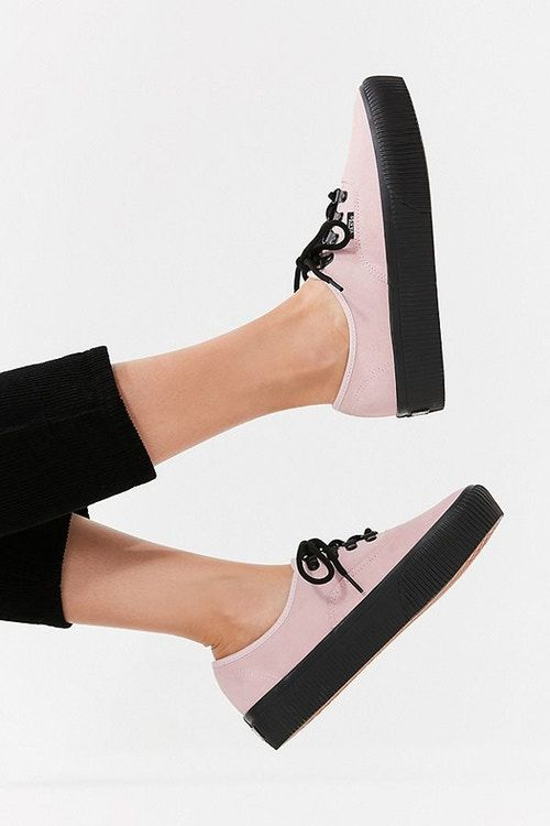 Reworked Suede Platform Sneakers
