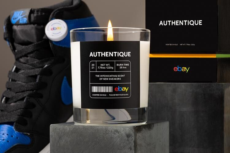 New Sneaker Candle Scents - This Authentique by eBay Candle Smells Like a Fresh Pair of Kicks (TrendHunter.com)