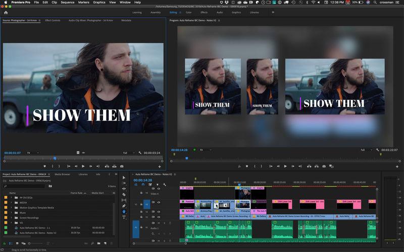 Auto-Reframing Video Editing