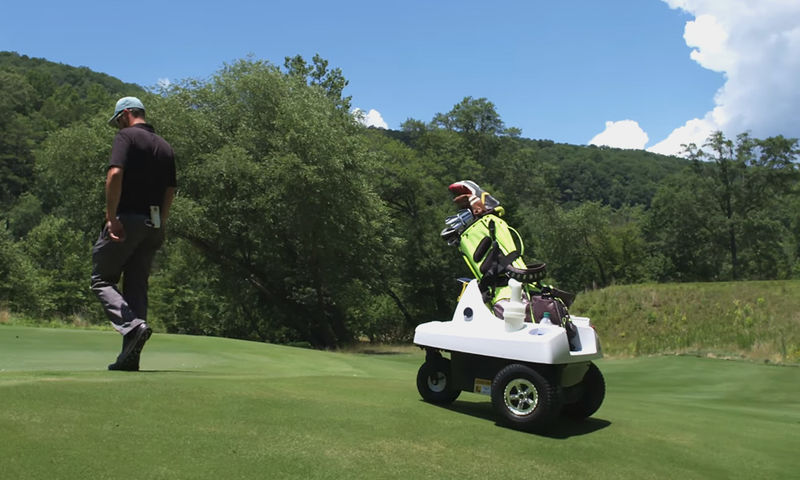 Auto-Following Golfer Caddies
