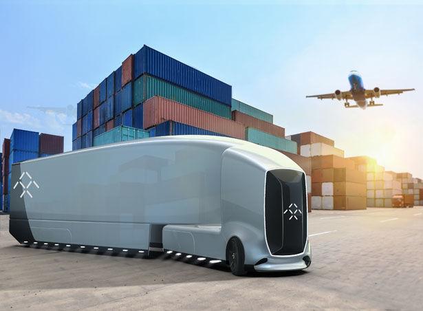 Autonomous Aerodynamic Shipping Trucks