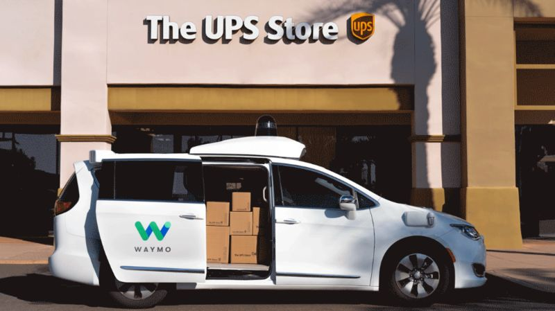 Package Delivering Autonomous Vans