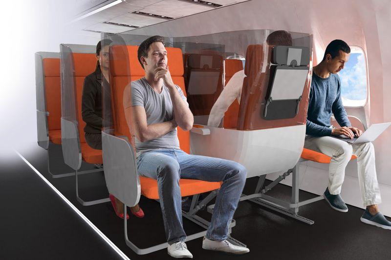 Passenger-Separating Airplane Seats