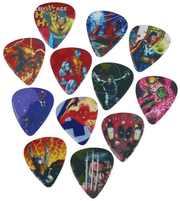 Superhero Chord Strummers : Awesome Guitar Picks