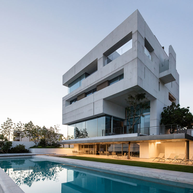 Carved Cubic Concrete Homes