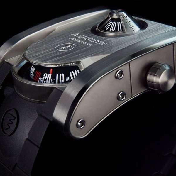 Sleek Monolithic Timepieces
