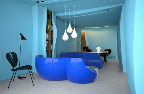 Aqua-Themed Offices