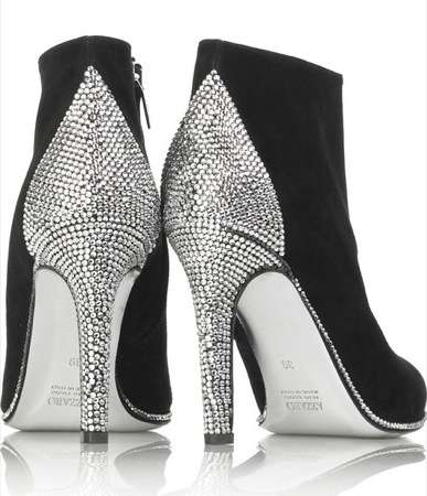 Crystal-Studded Heels