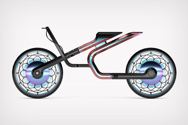 Geometrically Skeletal Motorbikes