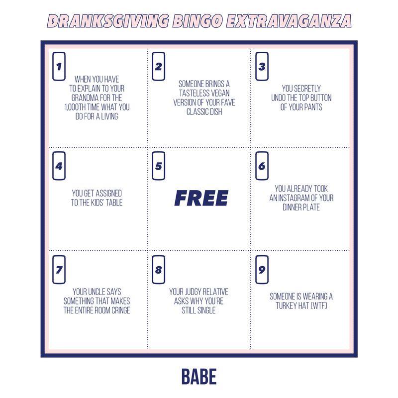 Millennial Drinking Bingo Games