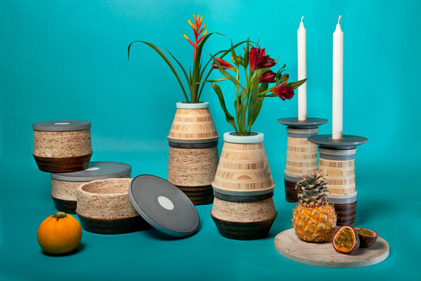 Bamboo Chipboard Vessels