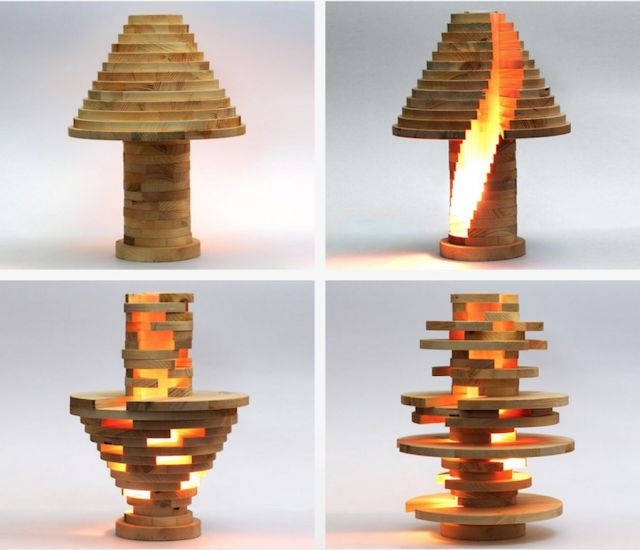 Modular Wooden Lights