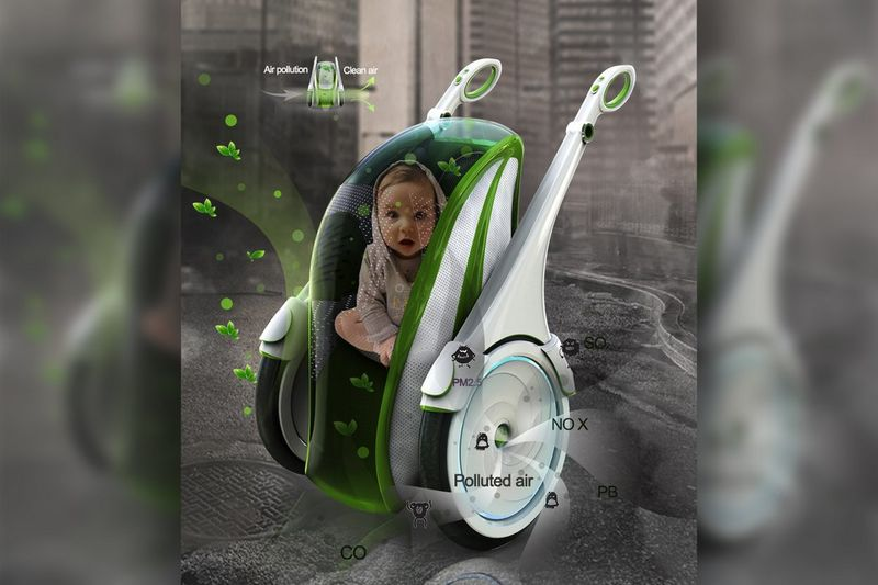 Air-Filtering Baby Carriages