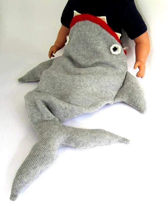 Aquatic Baby Sleepers : Baby Shark Sleeping Bag