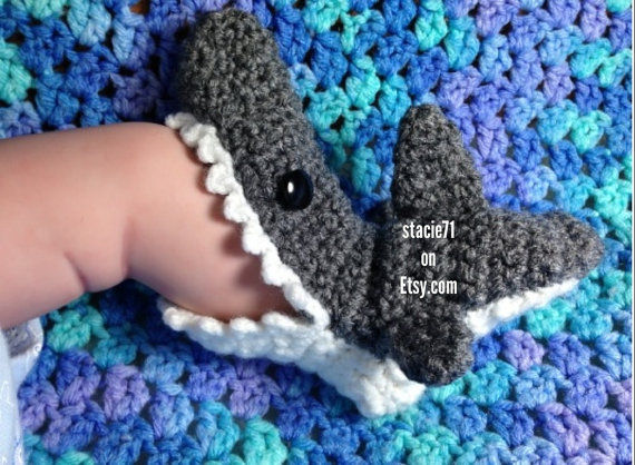 Infant Shark Slippers