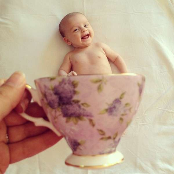 Toddler Tea Cup Photography