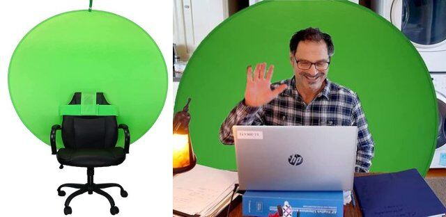 Chair-Mounted Streaming Green Screens