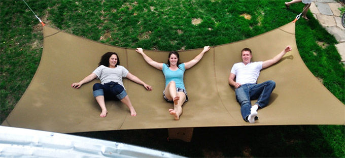 Gigantic Backyard Hammocks