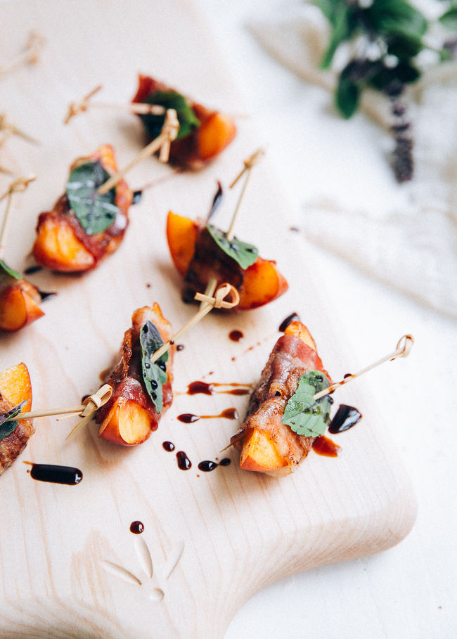 Fruit-Wrapped Bacon Appetizers
