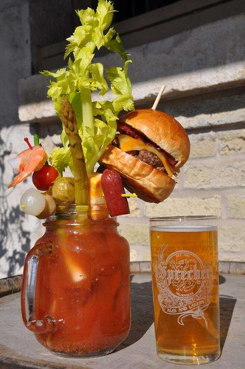 Burger-Garnished Beverages