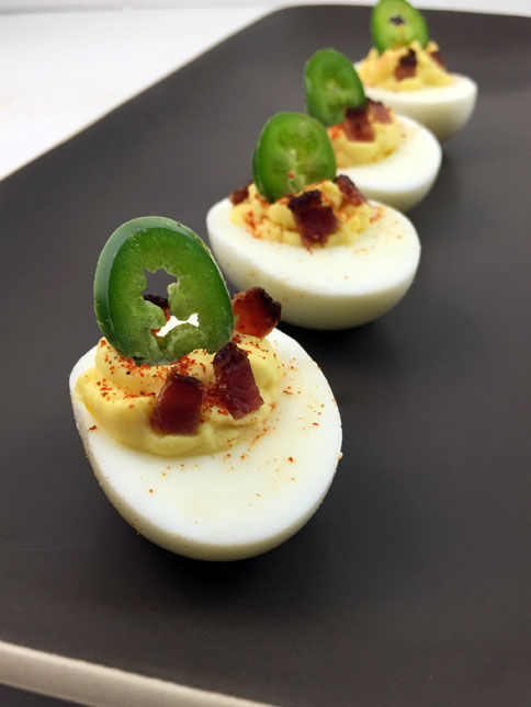 Piquant Deviled Eggs