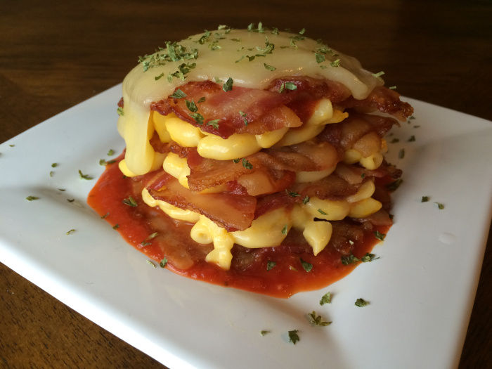 Cheesy Bacon Lasagna