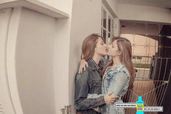 Self-Smooching Mouthwash Ads