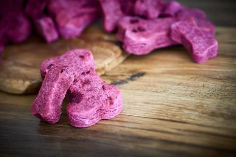 Beet-Infused Dog Biscuits